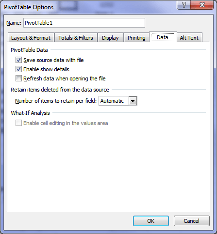 Auto Refresh PivotTable