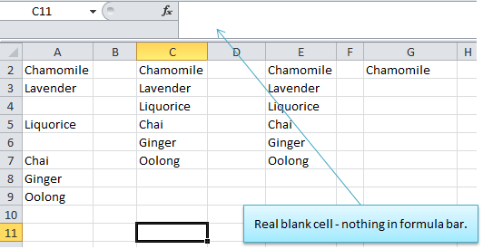 excel extract a list exluding blanks