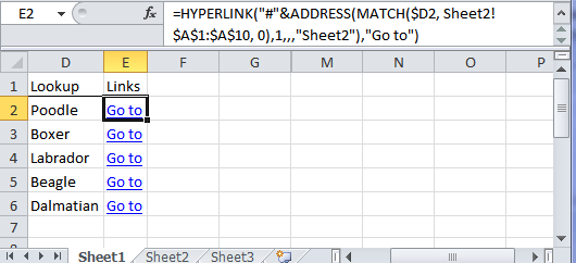 dynamic hyperlink formula