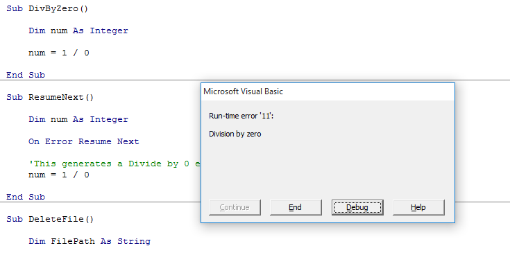 Vba next excel for
