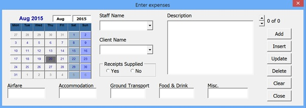 excel forms insert update delete new form layout