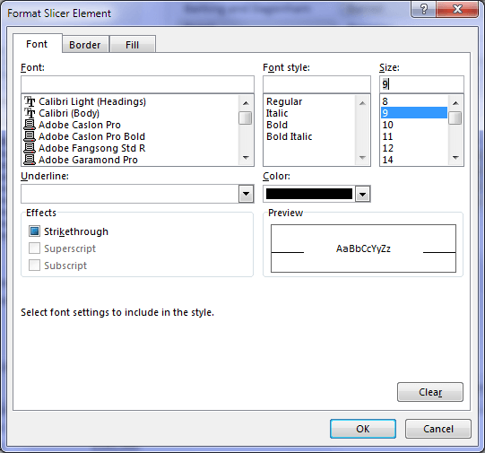 Format a Slicer Style