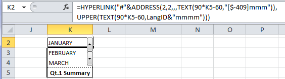 Excel Named Formulas