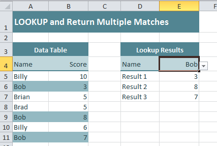Lookup and Return Multiple Matches
