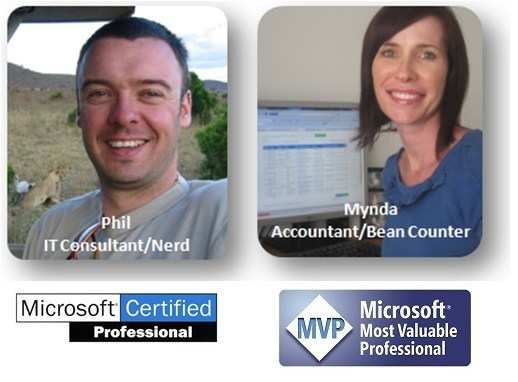 Mynda and Phil Treacy with Microsoft Accreditations