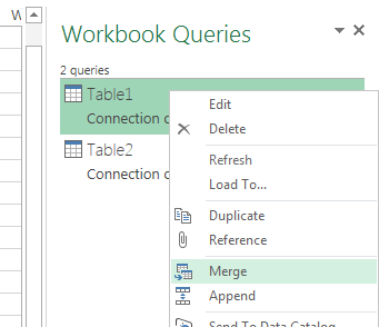 power query merge queries