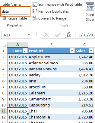 Excel Power Query VLOOKUP Data table 1