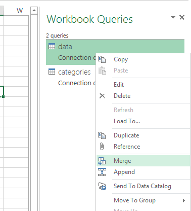 Excel Power Query VLOOKUP merge