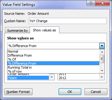 Show Values As in Excel 2007