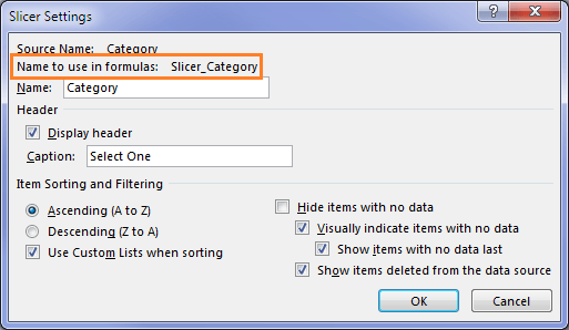 Use Excel Slicer selection in cube formulas