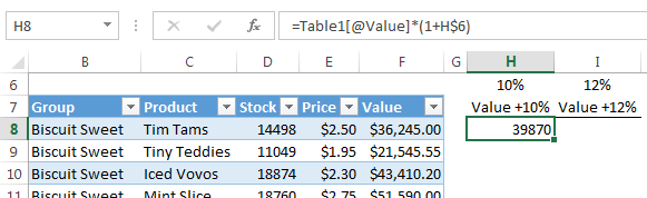 Absolute Reference rows in Excel Tables