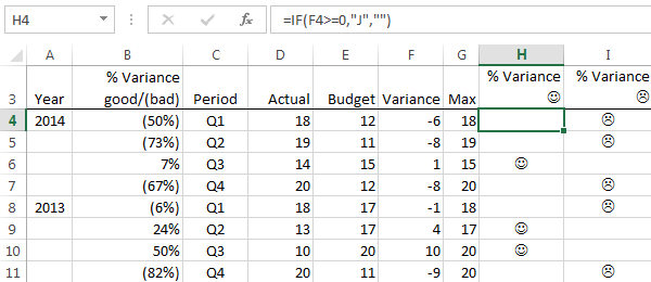 excel 2013 data layout