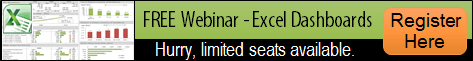 Excel Dashboard Webinar Registration