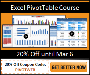 Excel PivotTable Course